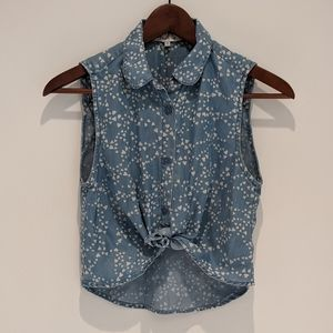 Aritzia Talula Sleeveless Tie-Front Top - Sz XS